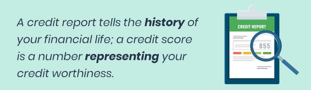 Credit report v. credit history