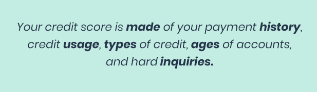 What goes into credit score?