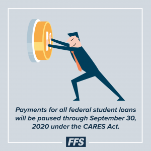 Payment for federal student loans are paused until Sept. 30, 2020.