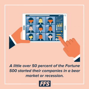 Over 50% of Fortune 500 started in a bear market.